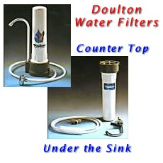 doulton countertop and under sink water filters